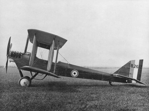 Airco DH.6 B2612; they type was used for training and anti-submarine patrols
