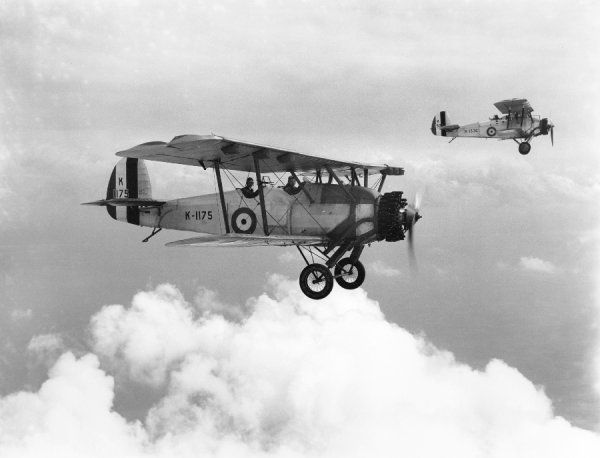 Armstrong Whitworth Atlas aircraft of Oxford University Air Squadron RAF, Eastchurch, 1932