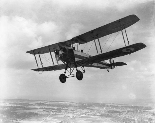 Avro 504N of Oxford University Air Squadron over the Kent coast, 1929