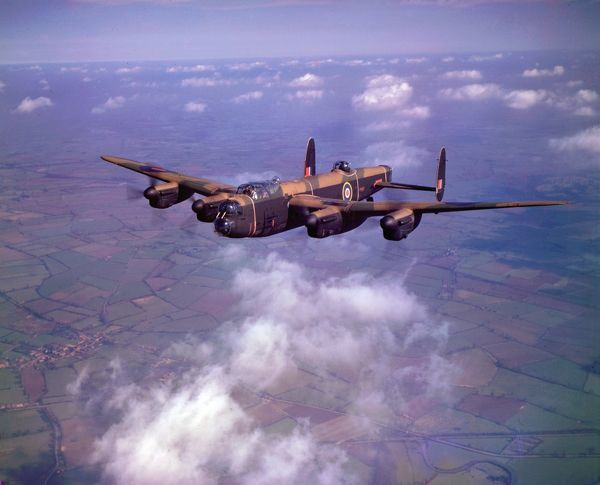 Avro Lancaster B.I PP967 on a test flight from Castle Bromwich, March 1945