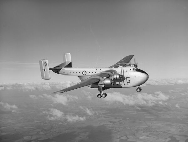 Blackburn Beverley C.1 of 47 Squadron in flight, Abingdon, January 1957