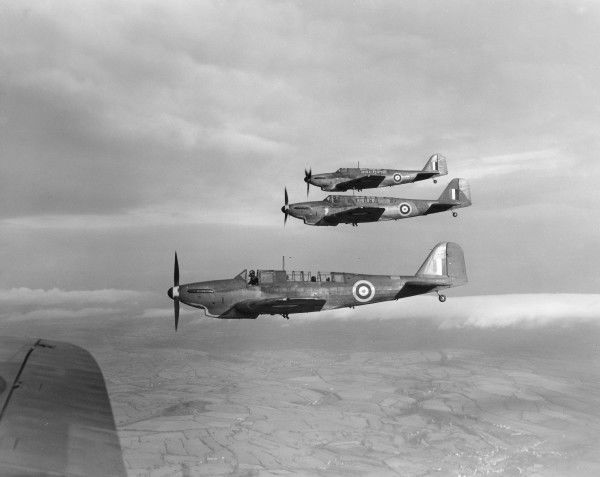 Fairey Fulmar I aircraft in flight, circa 1942