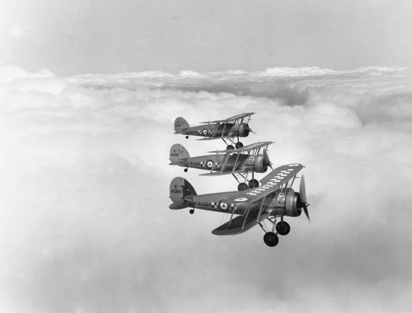 Gloster Gauntlet I aircraft of 19 Squadron, 1935