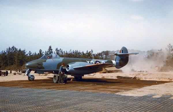 Gloster Meteor III of 616 Squadron RAF, Germany April 1945