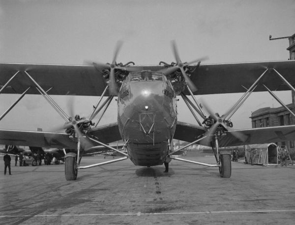 Handley Page HP.42 Horatius of Imperial Airways, Croydon Airport, 1930s
