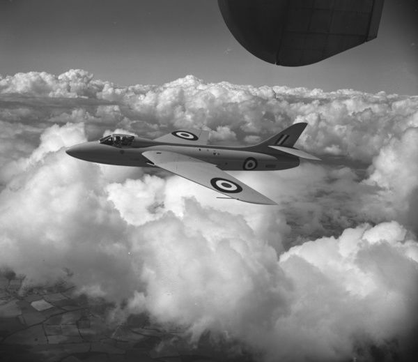 The Hawker P.1067 (Hunter prototype) being flown by Neville Duke, 1951