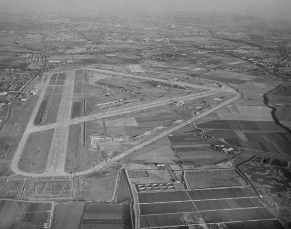 London Heathrow Airport under construction, 30 October 1945