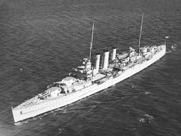 London Class cruiser HMS Shropshire