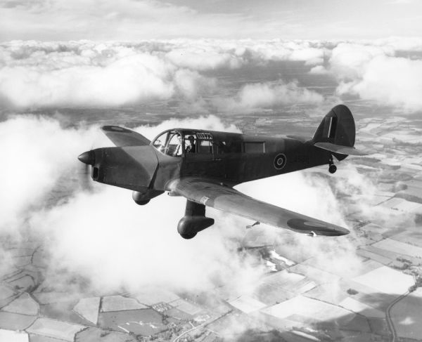 Percival Proctor IV (LA586) in flight from Luton, 11 August 1944