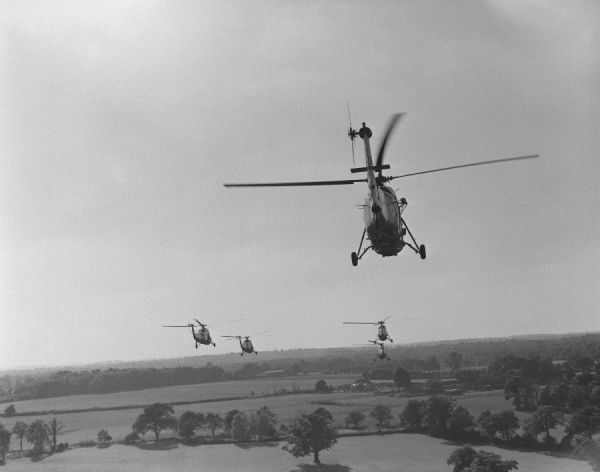 Westland Wessex HU.5 helicopters of the Royal Marines, 1964