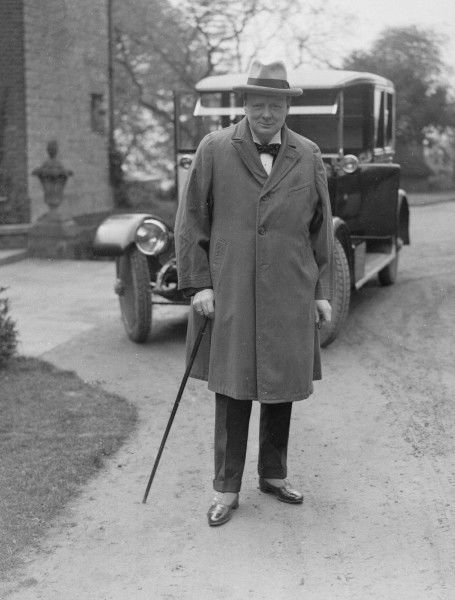 Sir Winston Spencer Churchill when Chancellor of the Exchequer. The location is not recorded