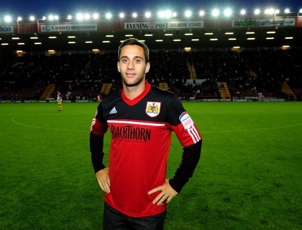 Bristol City's new Signing Sam Baldock, signed from West Ham on a three year seal is unveiled to the fans at half time - Photo mandatory by-line: Joe Meredith/Josephmeredith- 07/08/2012 - SPORT - FOOTBALL - Championship - Bristol - Ashton Gate