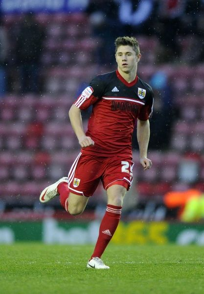 Bristol City's Wes Burns makes his debut - Photo mandatory by-line: Joe Meredith/JMP - Tel: Mobile: 12/01/2013 - Bristol City v Leicester City - SPORT - FOOTBALL - Championship - Bristol - Ashton Gate Stadium