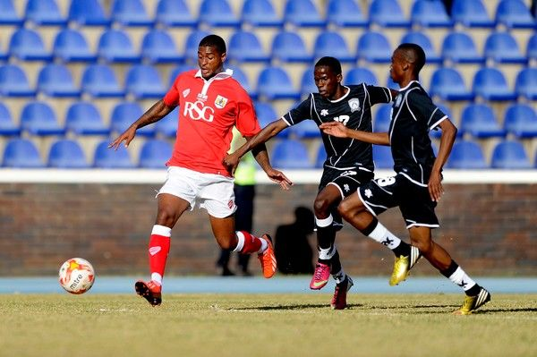 Bristol City?s new signing, Mark Little runs down the wing - Photo mandatory by-line: Dougie Allward/JMP - Mobile: 21/07/2014 - SPORT - FOOTBALL - Gaborone - Botswana - Extension Gunners v Bristol City