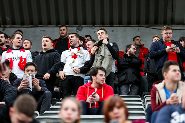 Bristol City fans in the away stand - Rogan Thomson/JMP - 25/02/2017 - FOOTBALL - St James' Park - Newcastle, England - Newcastle United v Bristol City - Sky Bet EFL Championship