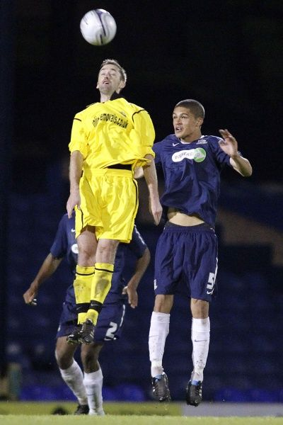 Lee Pyne (Barking) and Kane Ferdinand (Southend United) take off - Southend United vs. Barking - Essex Senior Cup Third Round at Roots Hall, Southend - Mandatory Credit: Pixel8 Photos/David Scriven