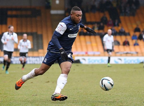 Britt Assombalonga (Southend United) - Port Vale vs. Southend United - npower League Two at Vale Park, Burslem - 09/03/2013 - Mandatory Credit: Pixel8 Photos/Michael Whitefoot - 0 - - NO UNPAID USE