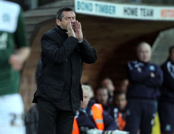 SkyBet League 2 - Plymouth Argyle v Southend United at Home Park. Phil Brown Mandatory Credit: Stephen Lawrence(Southern News and Pictures)/Southend United ? NO UNPAID USE