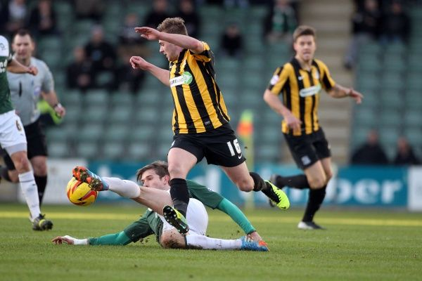 SkyBet League 2 - Plymouth Argyle v Southend United at Home Park. Connor Clifford Mandatory Credit: Stephen Lawrence(Southern News and Pictures)/Southend United ? NO UNPAID USE