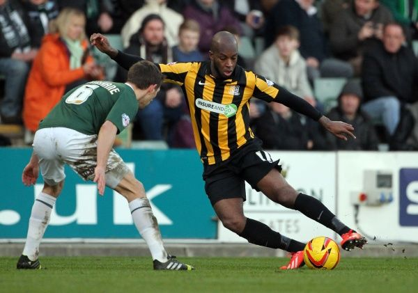 SkyBet League 2 - Plymouth Argyle v Southend United at Home Park. Anthony Straker Mandatory Credit: Stephen Lawrence(Southern News and Pictures)/Southend United ? NO UNPAID USE