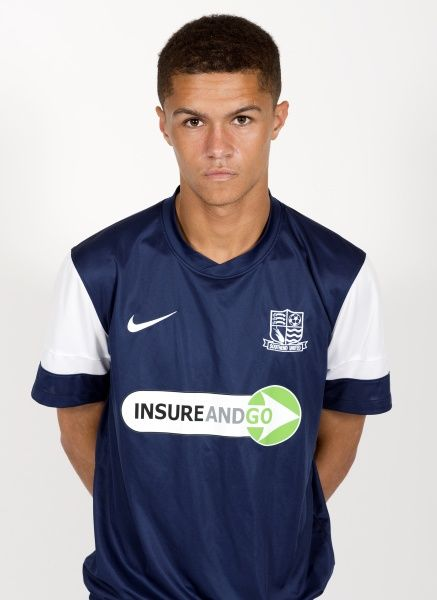 Kane Ferdinand in Southend United's home kit - Southend United Team Photo 2012/13 at Roots Hall, Southend - 16/08/12 - Mandatory Credit: Pixel8 Photos/David Scriven - 0 - - NO UNPAID USE