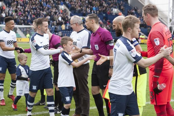 Preston North End v Brighton and Hove Albion SkyBet Championship match at Deepdale   Mascots