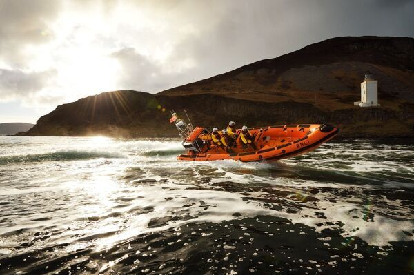 Arran (Lamlash) Atlantic 85 inshore lifeboat Rachel Hedderwick B-876 at sea during