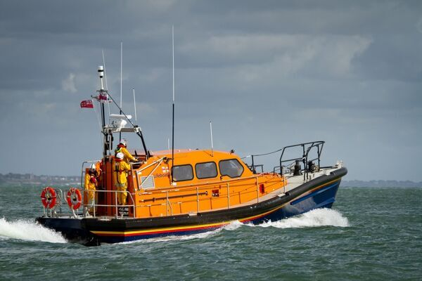 Prototype FCB2 Shannon class lifeboat in Poole Bay