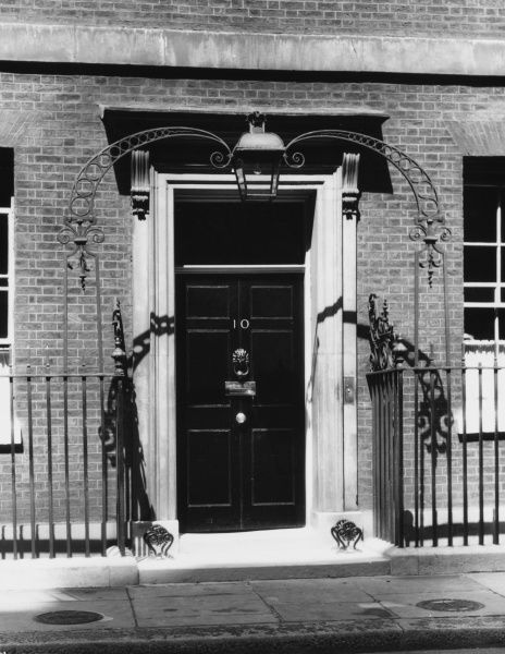 The door of number 10 which is the official residence of the British Primeminister