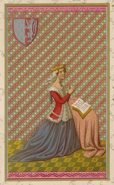 A French noblewoman at her devotions