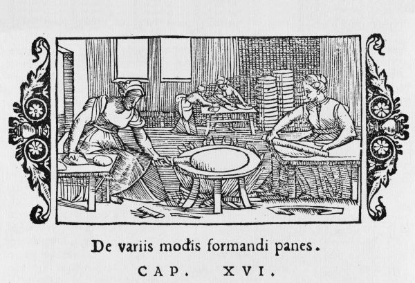 Baking in progress in 16th century Scandinavia