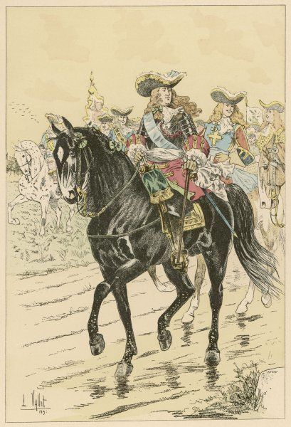 French Marshal of the Royal household on horseback