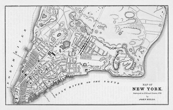 A map of New York