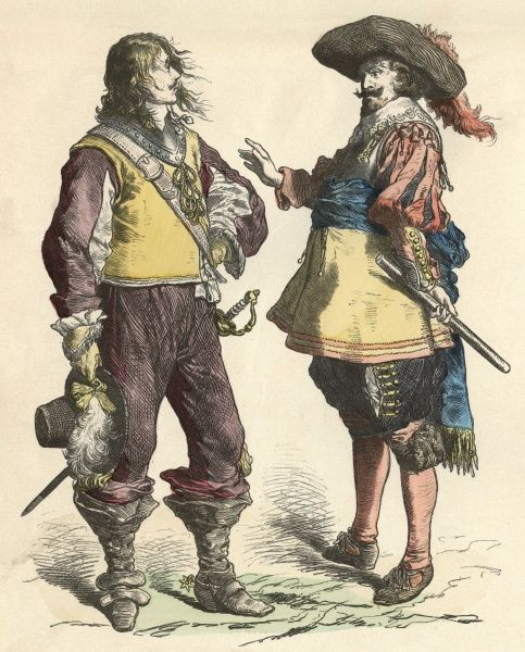 An English & a Flemish soldier. Date: circa 1640