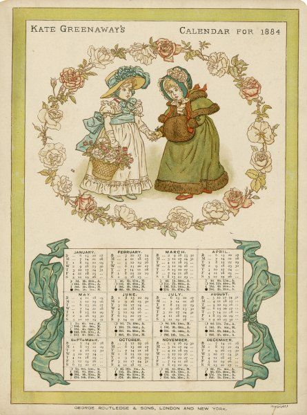 An 1884 calendar by Kate Greenaway