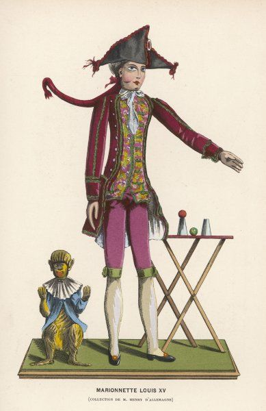 A marionette of the period of Louis XV