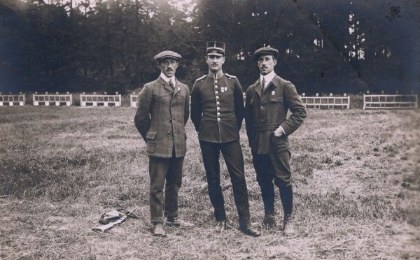 Olympic Games in Stockholm, Sweden, 1912. The Swedish Team, gold medaliist of the duel-shooting.. Date: 1912
