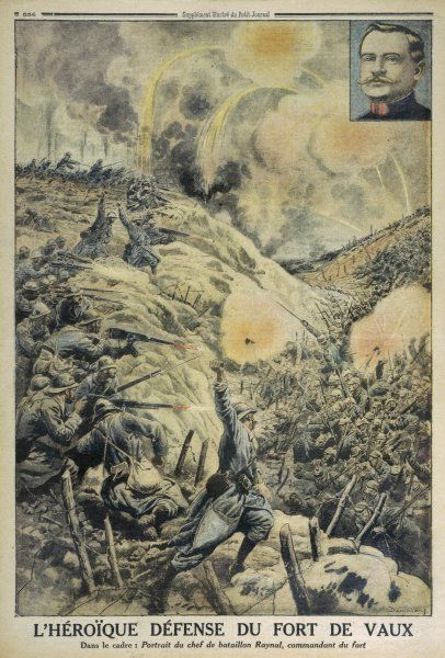 Major Raynal and his batallion lead the heroic French defence of Fort Vaux. It falls to the Germans in June but is retaken by the French in November 1916