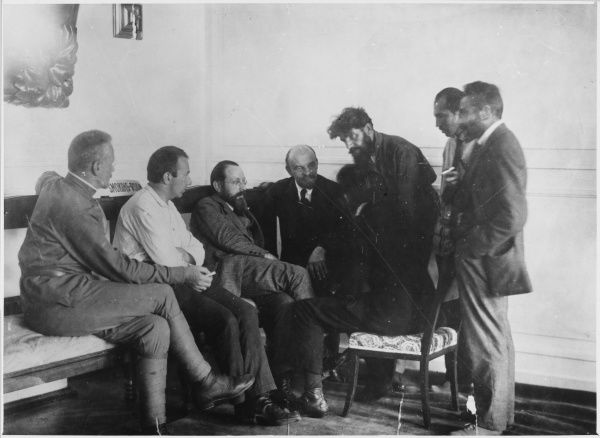 VLADIMIR LENIN Lenin in conversation with members of the 2nd congress of the Communist International (Comintern)