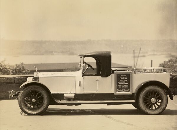 Automobile (Cars). Truck advertising Douglas C. Burrelle used cars