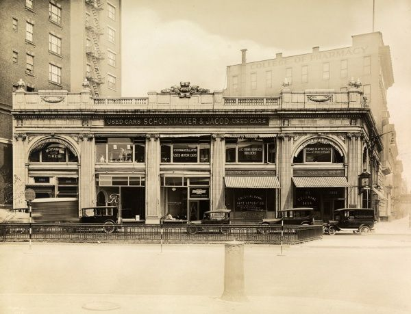 Automobile (Cars). Schoonmaker & Jacod Used Cars, 2000 Broadway at 68th Street, New York