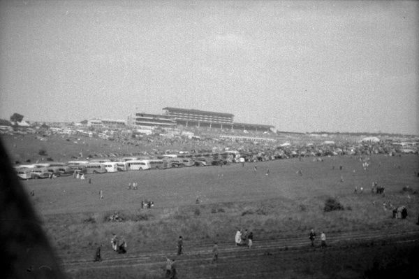 The Epsom Grandstand from across the Downs from the Start. 6th June 1953