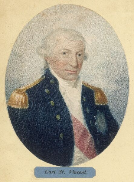 JOHN JERVIS, 1st Earl of St Vincent Admiral in the British Royal Navy Defeated the Spanish fleet at the Battle of Cape St Vincent