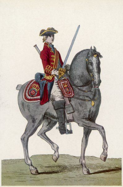 British officer of the 1st horse guards - on horseback