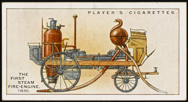 The first steam-powered fire engine by Ericsson and Braithwaite, used at several fires 'very successfully&#39
