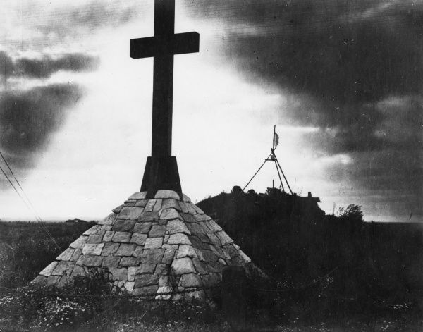 The Second Australian Division Memorial at Pozieres, northern France, during the First World War. Date: September 1917