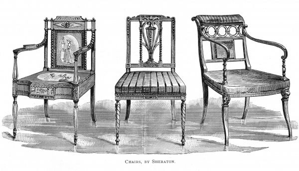 Three chairs by THOMAS SHERATON Date: circa 1791