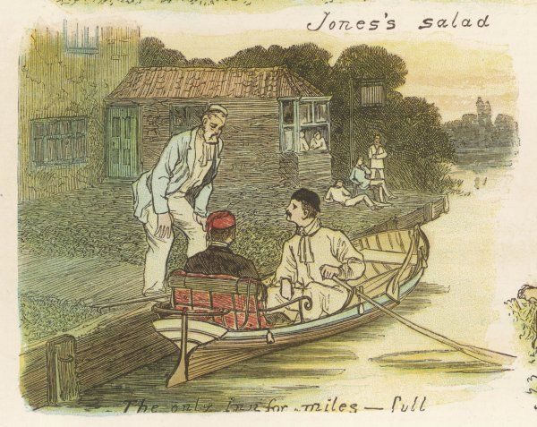 Three men and a boat - on the Thames