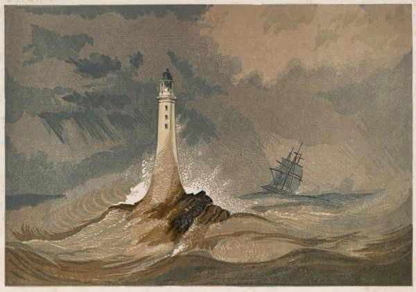 The third Eddystone lighthouse, near Plymouth, is built by Smeaton, originally in part of wood but this is later replaced by stone