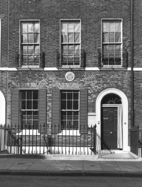 No. 48, Doughty Street, Holborn, London, the residence of Charles Dickens from 1837 until 1839. Date: 19th century